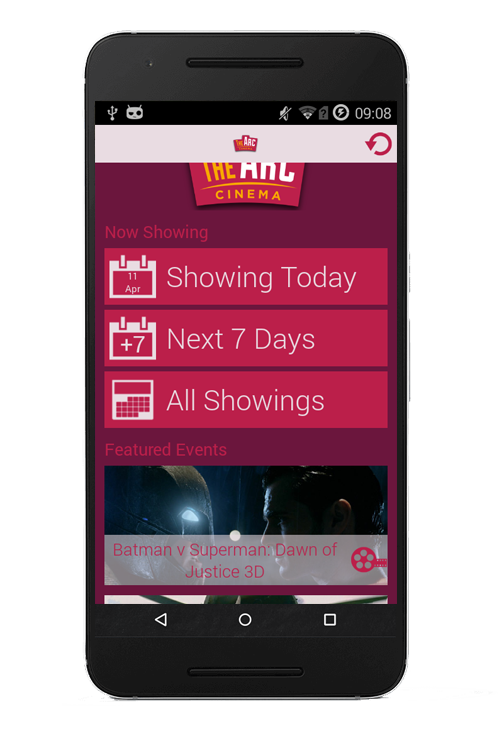 The Arc Cinema Mobile App